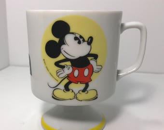 1970-80's | Vinatge | Disney Mickey Mouse Pedestal Mug | made in Japan