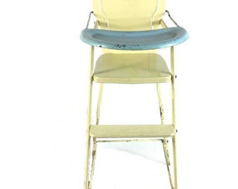 1950's Vintage Retro AMSCO Metal toy Doll High Chair