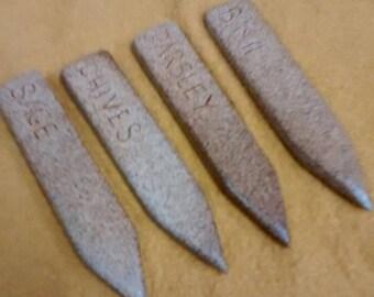 Stoneware garden markers