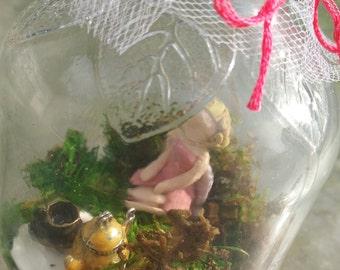 Teatime Fairy in a Jar