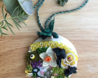 HandmadeLace on Real Oyster Shell Necklace
