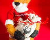Needle-felted Festive Fox...