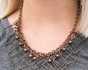 Copper necklace & earring set
