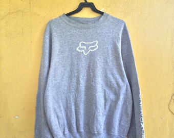 vintage fox racing inc big logo spellout sweatshirt