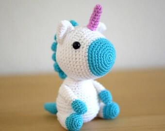 Unicorn crochet Häkeltier handmade Unicorn stuffed animal Amigurumi