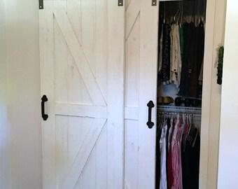 Kit etsy studio for Overlapping interior barn doors