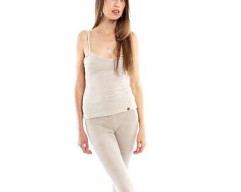 Hemp Leggings, Woman, Organic Fashion, Handmade, Vegan, 100% Hemp