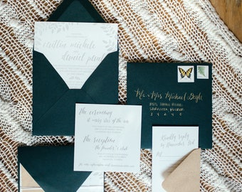 Neutral Rustic Wedding Suite | Gray and Green | Downloadable Wedding Suite