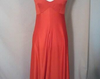 Vintage 1970s red halter disco dress