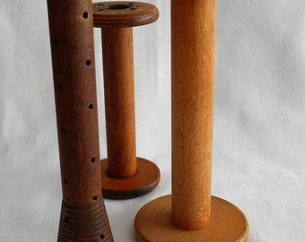Vintage Wooden Spools, 3