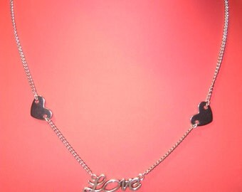 Surgical steel necklace Love