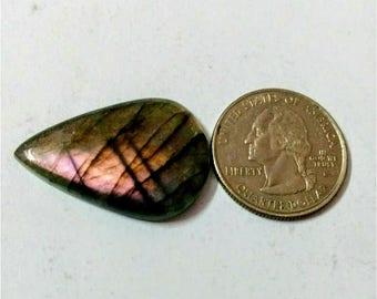 32.33x21.75mm,Pear Shape,Labradorite Cobochon/Purple Flash Laradorite/wire wrap stone/Violet Labradorite/Pendant Cabochon/Semi Precious