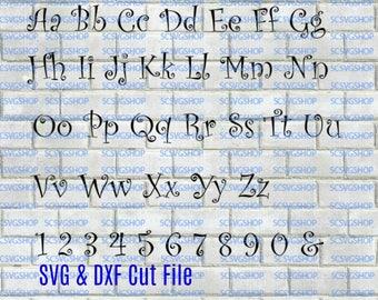 Curlz Font svg cut file, Fancy, Silhouette File, Cut File, SVG, DXF, Alphabet, DIY, Print, Unique, Fun font, Digital download
