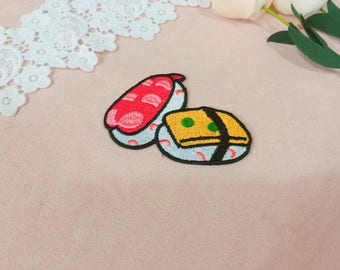 suchi patch/salmon patch/iron on /embroidered /high quality/gorgeous /diy/applique