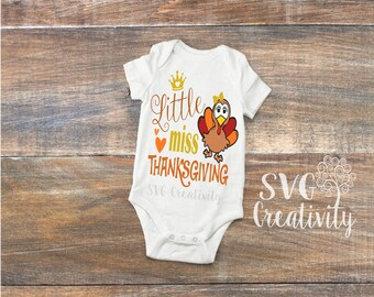 Little Miss Thanksgiving SVG, Little Miss SVG, Thanksgiving SVG