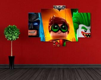 Batman canvas, Superhero canvas, Lego Batman print, Lego Batman, Batman print, DC Comics, Superhero print, DC Comics print, Batman wall art