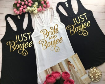 Bad and Boozy, Bridal party shirts, Bride and Boujee, Bachelorette tank tops, Bridesmaid tank, Bad Bride, Boujee Tribe, Bridal shirt, b9