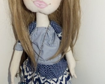 Interior decor doll Handmade doll Fabric doll,Art doll,Textile and rag doll,OOAK doll,boutique,