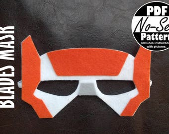Blades Rescue Bot No-Sew Mask Pattern