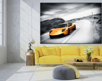 Lamborghini poster, Lamborghini Aventador, Sport car poster, Sport car print, Lamborghini print, Lamborghpini wall art, Supercar print