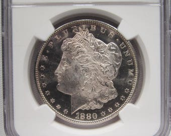1880 S Morgan Silver Dollar NGC MS65 Certified Coin