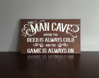 Man Cave Wood Sign