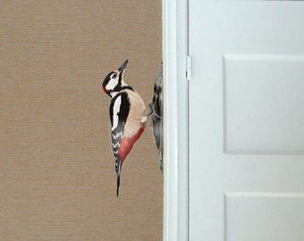 Wall stickers Woodpecker - Set of 2 Left and right