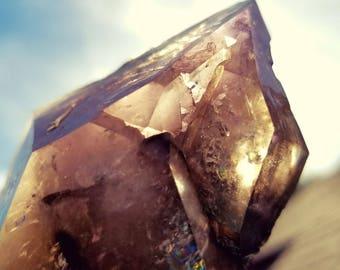 Smokey Ametrine Scepter Quartz Crystal from Hallelujah Junction