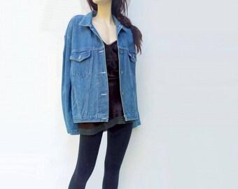 80s Jean Jacket Vintage Jean Jacket Oversized Jean Oversized Jacket 80s Brittania Denim 1980s Denim Jacket StarletVintage Women os Med Large