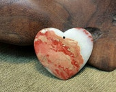 30% off HEARTS Sale! ~ Natural Flame Red Jasper Heart
