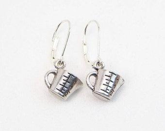 Measuring Cup Earrings - Cook Earrings - Chef Earrings - Kitchen Gift - Bakers Charm - Dangle Earrings - Gift For Her