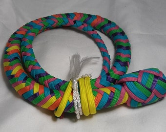 Candy Colored Paracord Whip