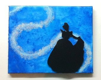 Cinderella Inspired Melted Crayon Art Painting