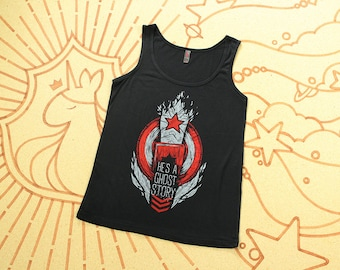 Winter Soldier Tank Top // Bucky Barnes Tank Top //  He's A Ghost Story // Hand screen printed // Available in plus sizes
