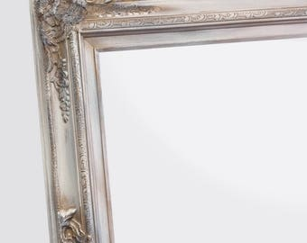 "DECORATIVE FULL LENGTH Mirrors For Sale 62""x 32"" White Antique Finish Baroque Decorative Mirror Long Leaning Framed Mirror Shabby Chic"