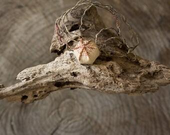 Ulu, handmade fiber art necklace
