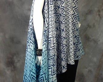 Baja Blue sleeveless duster, vest, Poncho, top O/S