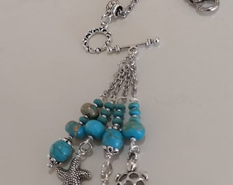 Turquoise Sea Charm Necklace