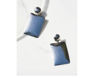 Oversized Earrings / 1980s Earrings / Statement Jewelry / Modernist Earrings
