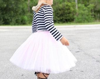 Clarisa - Baby Tulle Skirt, Flower Girl Skirt, Puffy Tulle Skirts, Kids Tutu, Baby Tutu