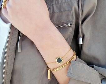 Gold Bracelet For Women, Stackable Bracelet, Dainty Gold Bracelet, Gold Plated Jewelry, Minimalist Jewelry, Casual Bracelet, Women Bracelets