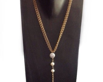 Long pearl necklace, pearl necklace, pearl necklace wedding,  long tassel necklace, long gold necklace
