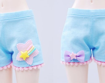 BJD Shorts - Slim MSD Minifee or Unoa - Blue Deco Star