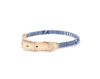 Cat Collar or Small Dog Collar - Indigo