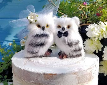 owl wedding cake toppers for sale etsy your place to buy and sell all things handmade 18102