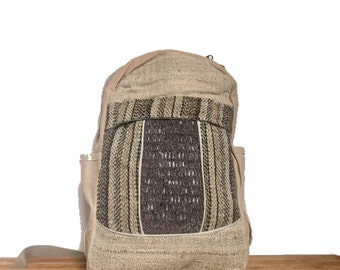 HEMP BACKPACK for LAPTOP - hemp RUCKSACk, Hipster Backpack, canvas rucksack, men's backpack bag, travelling rucksack, backpack hemp