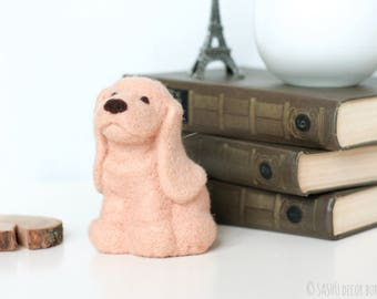 Felt Dog Miniature - Felt Basset Dog, Felt Miniature Dog, Needle Felt Dog, Dog Sculpture, Felt Animals, Dog Lover Gift, Dog Gifts for Owners