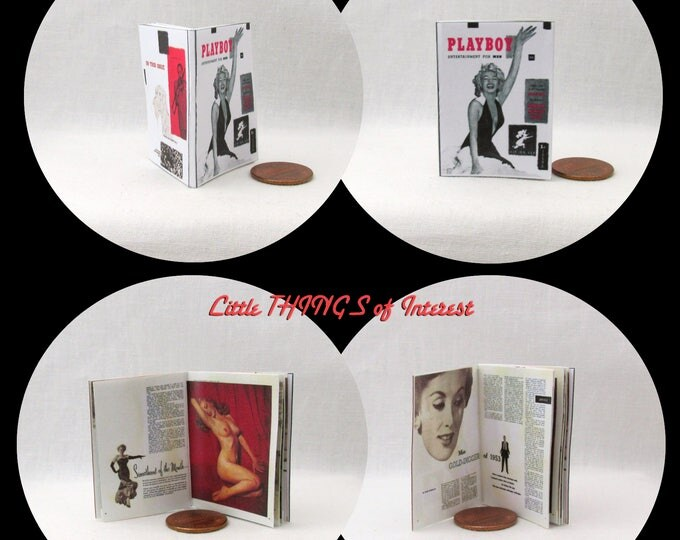 1:6 Scale PLAYBOY Magazine MARILYN MONROE #1 Illustrated Miniature Book Play Boy Norma Jeane Mortenson Blonde Bombshell Actress Model Sex