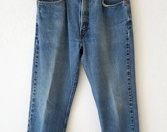 505 Levi Jeans Denim Grunge 33x30 American 80s Made USA