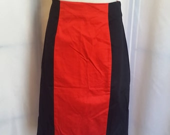 SHOP CLOSING 70% OFF Womens Pencil skirt red/black pencil skirt pleat pencil skirt womens clothing womens skirts size 12